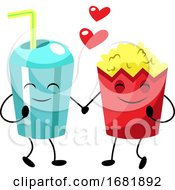 Poster, Art Print Of Popcorn And Soda In Love