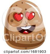 Cartoon Potato In Love