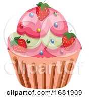 Rut Cupcake With Strawberries As A Roasting