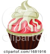 Chocolate Cupcake With Red And White Chocolate Topping by Morphart Creations