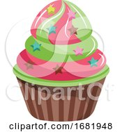 Cupcakes With Star Shaped Sprinkles by Morphart Creations