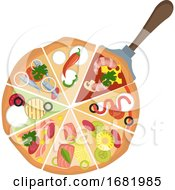 Poster, Art Print Of Different Kinds Of Pizza