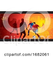Poster, Art Print Of Soccer Illustration