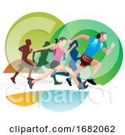Poster, Art Print Of Running Illustration