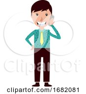 Smiling Young Man Talking On His Phone