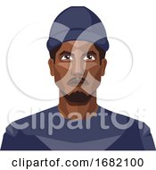 African Guy Wearing Blue Hat