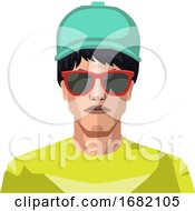Boy Wearing A Blue Hat And Sunglasses