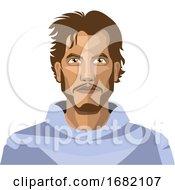 Guy With Beard And Long Hair