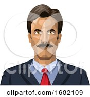 Man With Mustaches And Short Black Hair