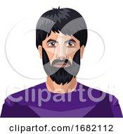 Man With A Beard And Long Black Hair