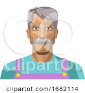 Older Man With Moustaches