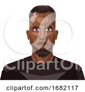 African Guy With Beard And Short Hair