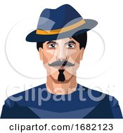 Guy Wearing A Blue Hat And Shirt