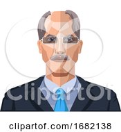 Older Man With Mustaches Wearing Glasses