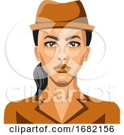 Girl With Brown Hat And Pony Tail