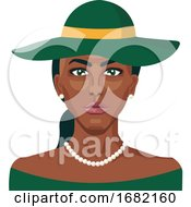 African Girl Wearing Green Hat