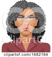 Pretty Girl With Glasses And Curly Hair