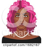 African Girl With Pink Hair