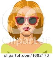 Blonde Girl Wearing Sunglasses