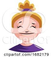 Girl With Blonde Hair Looking Zen