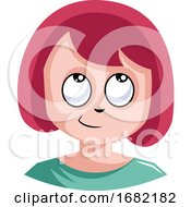 Poster, Art Print Of Young Female With Red Hair Is Unfocused