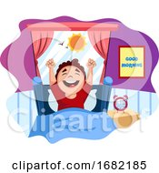 Poster, Art Print Of Boy Woke Up Happy