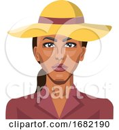 Girl Wearing A Yellow Hat