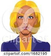 Girl With Yellow Hair And Eyebrows