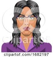 Poster, Art Print Of Long Haired Girl Wearing Glasses