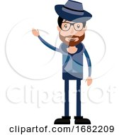 Poster, Art Print Of Funny And Cool Cartoon Guy In Casual Clothes