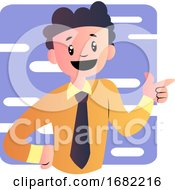 Poster, Art Print Of Happy Cartoon Boy