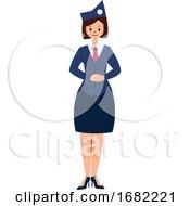 Air Hostess Simple Character