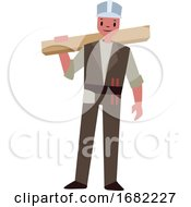 Poster, Art Print Of Carpenter Character