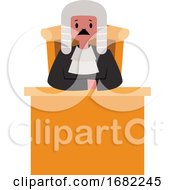 Judge Character Behind The Desk