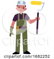 Poster, Art Print Of Painter Character