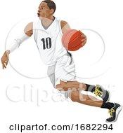 Poster, Art Print Of Basketball Player