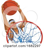 Poster, Art Print Of Basketball Player In Action