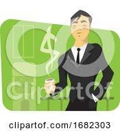 Illustration Of A Successful Businessman