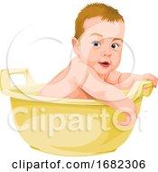 Baby Boy In Bathtub