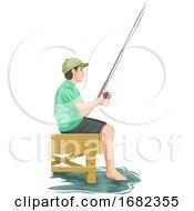 Teenage Boy Fishing
