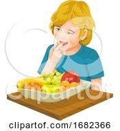 Girl Eating Fresh Fruit