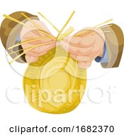 Poster, Art Print Of Hand Weaving Wicker
