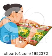 Poster, Art Print Of Woman Painting