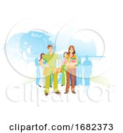 Poster, Art Print Of People For The Environment Illustration