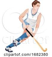 Poster, Art Print Of Female Hockey Player
