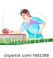 Poster, Art Print Of Teenager Playing Table Tennis