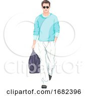 Stylish Man Carrying Bag