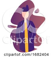 Purple Modern Icon Illustration Of A Female Doctor
