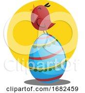Poster, Art Print Of Easter Egg And Little Chicken Illustration Web