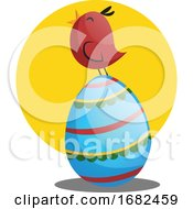Easter Egg And Little Chicken Illustration Web